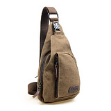 Korean Casual Men's Chest Canvas Sports Bag Multifunctional Outdoor Small Satchel Bag