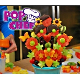 POP CHEF Kitchen Plastic Carved Fruits And Vegetables Device