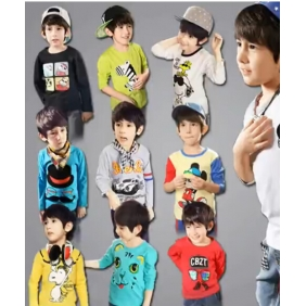 Korean Children's Long-Sleeved T-shirt
