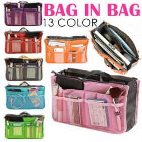Korean Double Zipper Thickening Portable Multifunction Storage Bag in Bag