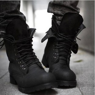 Korean Fashion Military Boots Shoe