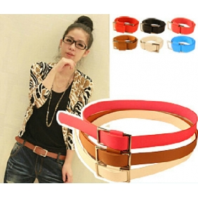 Fashion Women Slide Buckle Belt