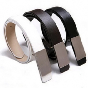 Korean Men\'s Casual Business Smooth Buckle Belt