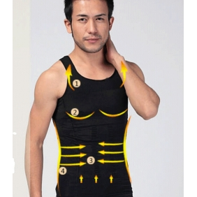 Body Shaper Vest Singlet Men Fitness Gym Body Slimming Waist Abdomen Beer Belly Girly