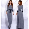 Female Muslim Robe Diamond Checkered Dress