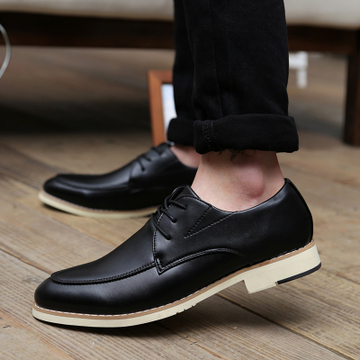 British Men\'s Casual Business Increase Height Popular Retro Shoes