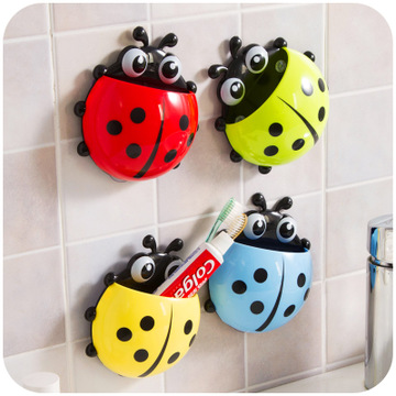Cute Ladybug Creative Toothbrush Holder