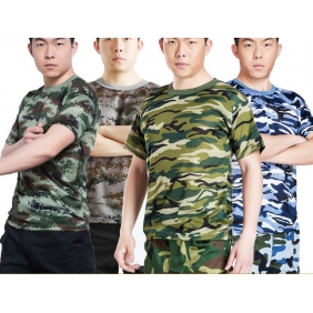 Military Camouflage Quick-Drying Short-Sleeved T-Shirt