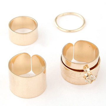 European Fashion Simple Combination Four Joint Ring