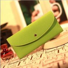 Korean Fashion Candy Color Buckle Long Wallet