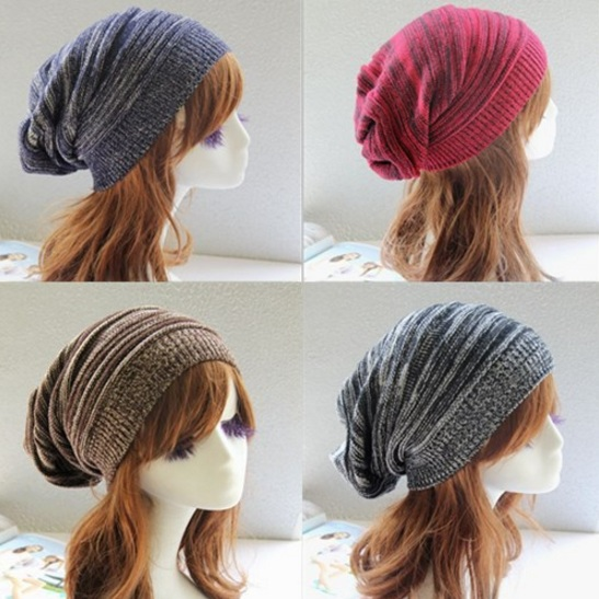 Color Melaleuca Fold Knitting Wool Hip-Hop Hat