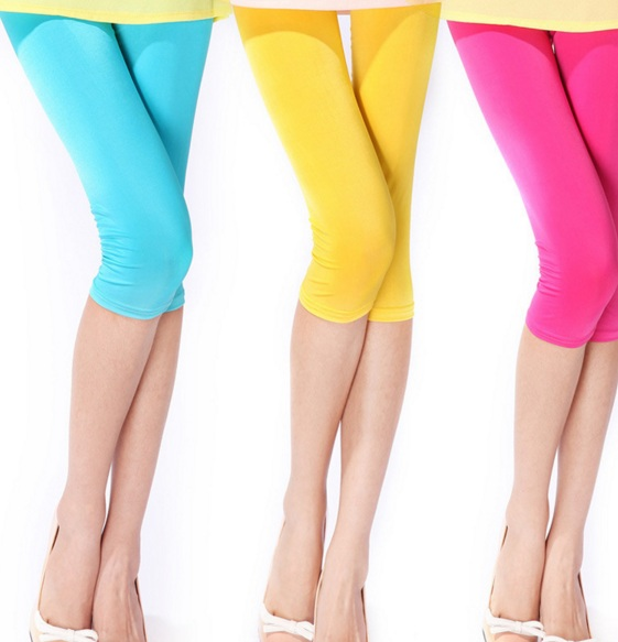 Ice Silk Breathable Candy Color Leggings