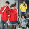 Korean Style Simple Unisex Casual Hooded Couple Sweater Jacket/ pc