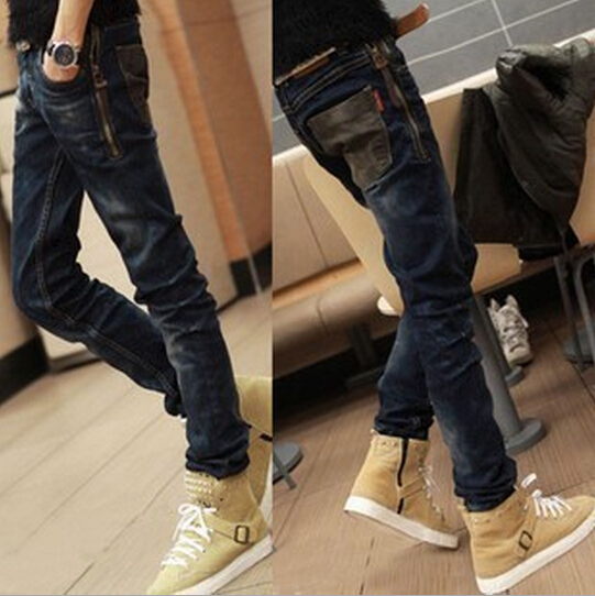Korean Men's Slim Fit Jeans Pants