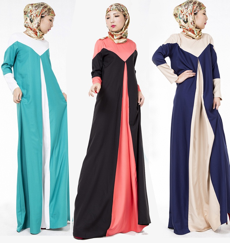 Muslim Female Long-Sleeved Jubah Baju Kurung Women Dress