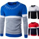 Stitching Men's Casual Hedging Sweater