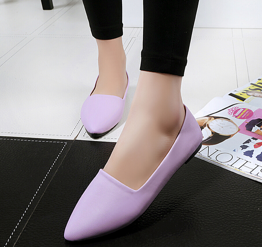 Solid Flat Point Head Shoes