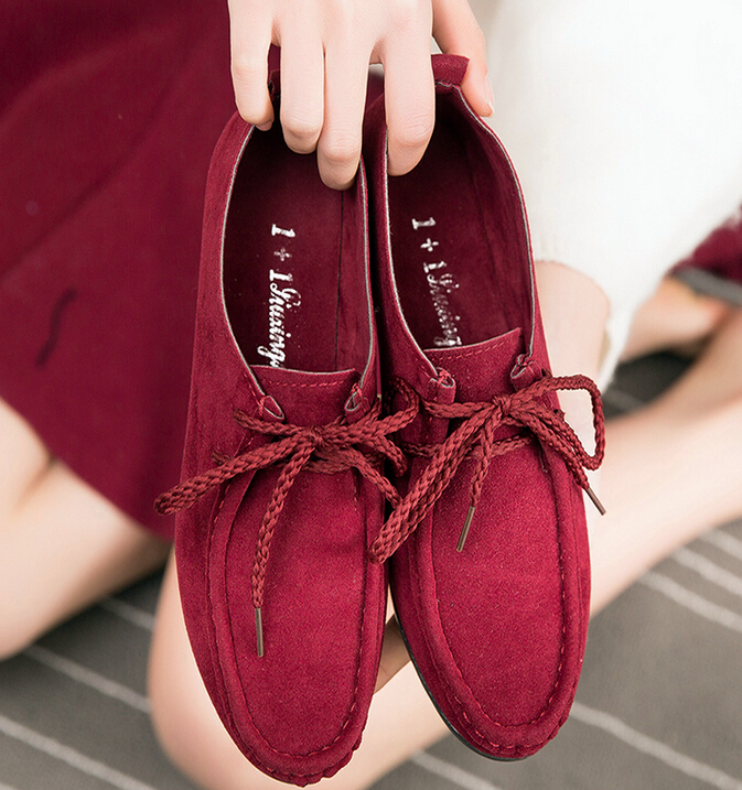 Comfortable Flat Straps Suede Casual Peas Shoes