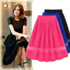Pleated Chiffon Organza Skirts Stitching Fairy Dress