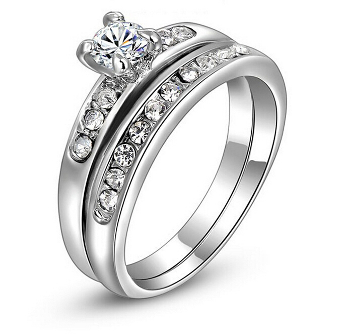 Fashion Double Sets Of High-end Ring