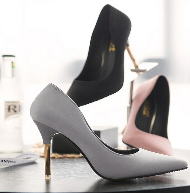 Korean High Heel Pointed Shoes