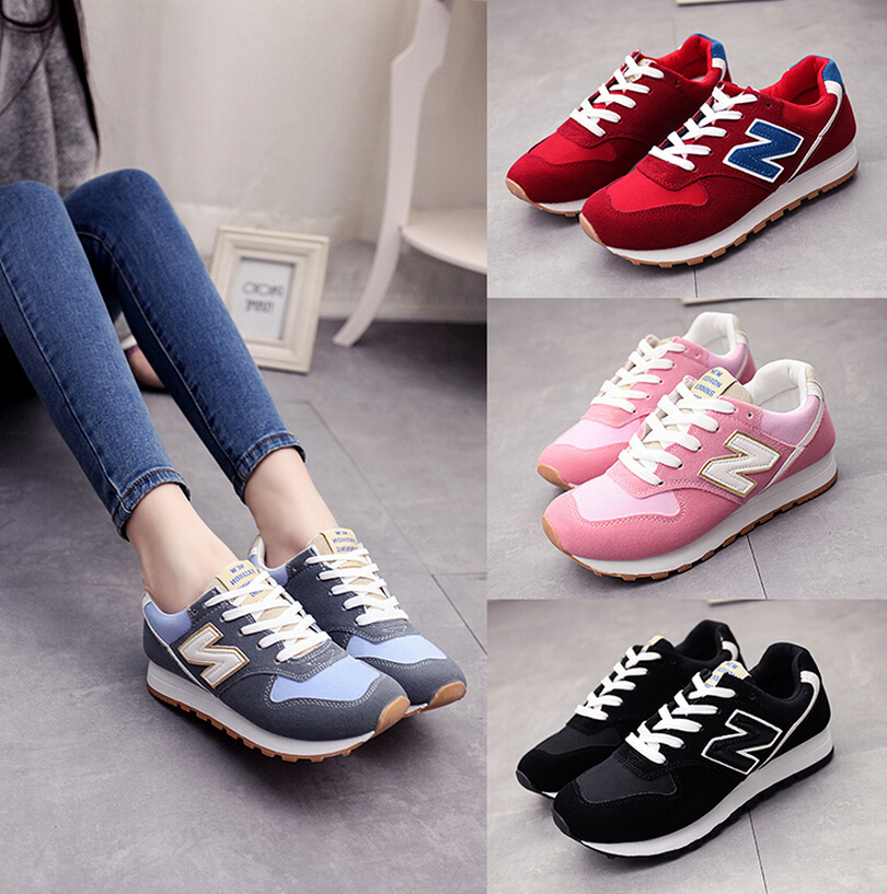 Breathable N Letter Casual Sports Running Shoes
