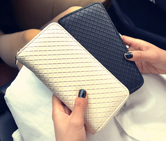 Korean Large Zip Fashion Handbags Wallet