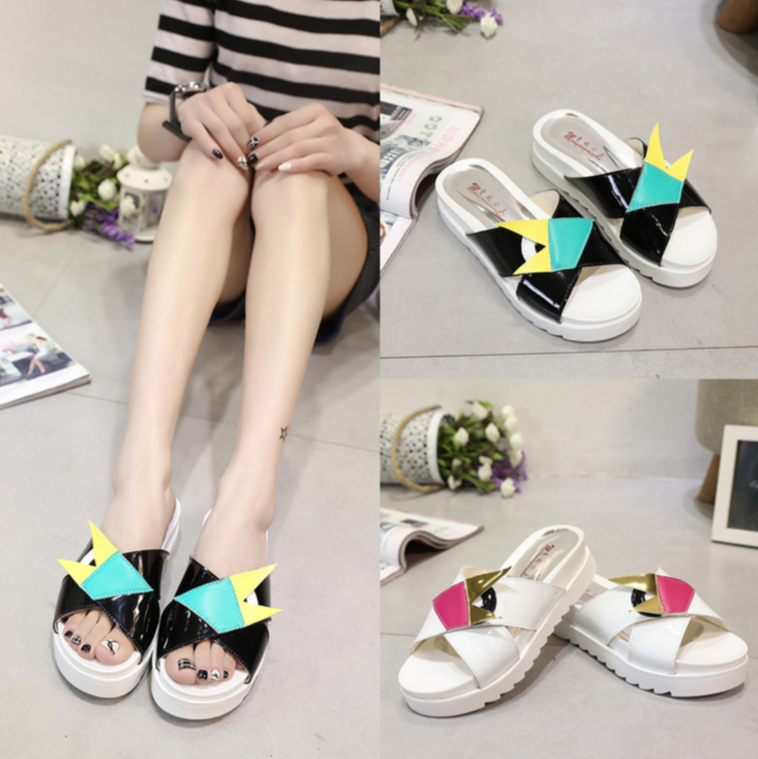 Korean Fashion Thick Platform Anti-Slip Sandals