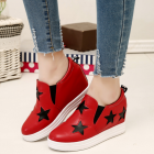 Pentagon Round Muffin Height Increase Flat Wedges Shoes