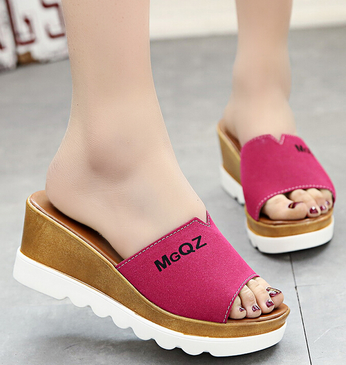 Korean Style Women Casual Sweet Wedges Sandals Shoe