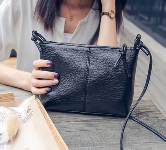 Korea Fashion Washed Leather Small Handbag
