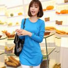 Female Long-Sleeved Solid Color T-Shirt