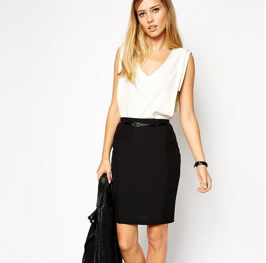 European Simple A-word Occupation OL Suit Skirt