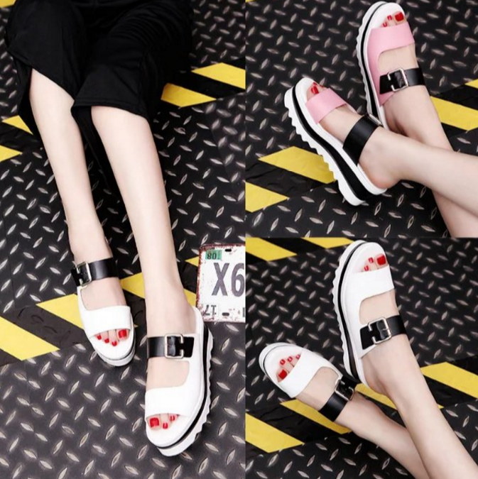 Korean Thick Muffin Casual Platform Sandals