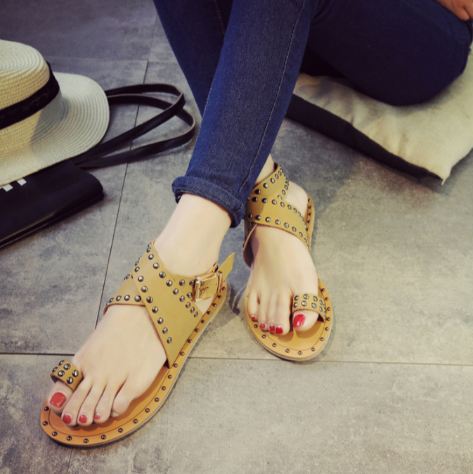 European Leisure Rivet Flat Roma Sandals