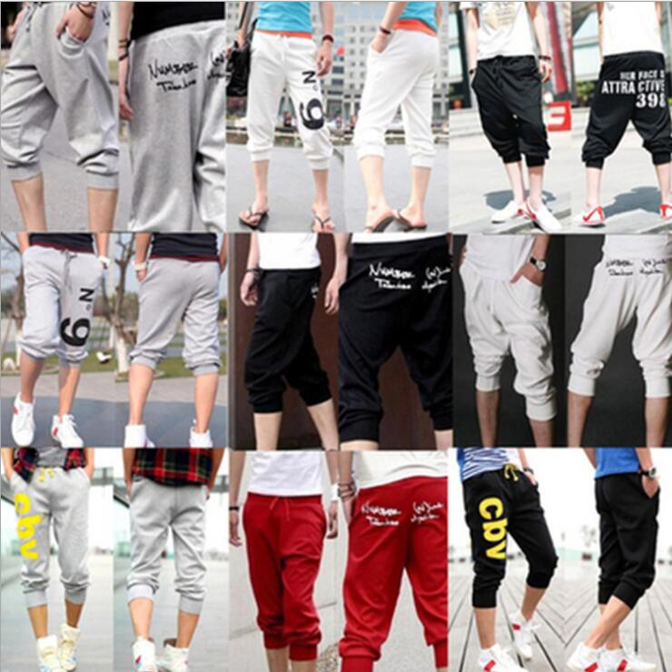 Korean 3 Quarter Men Short Sport Pants Trouser
