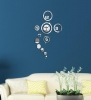 DIY Personalized Clock Mirror Wall Stickers