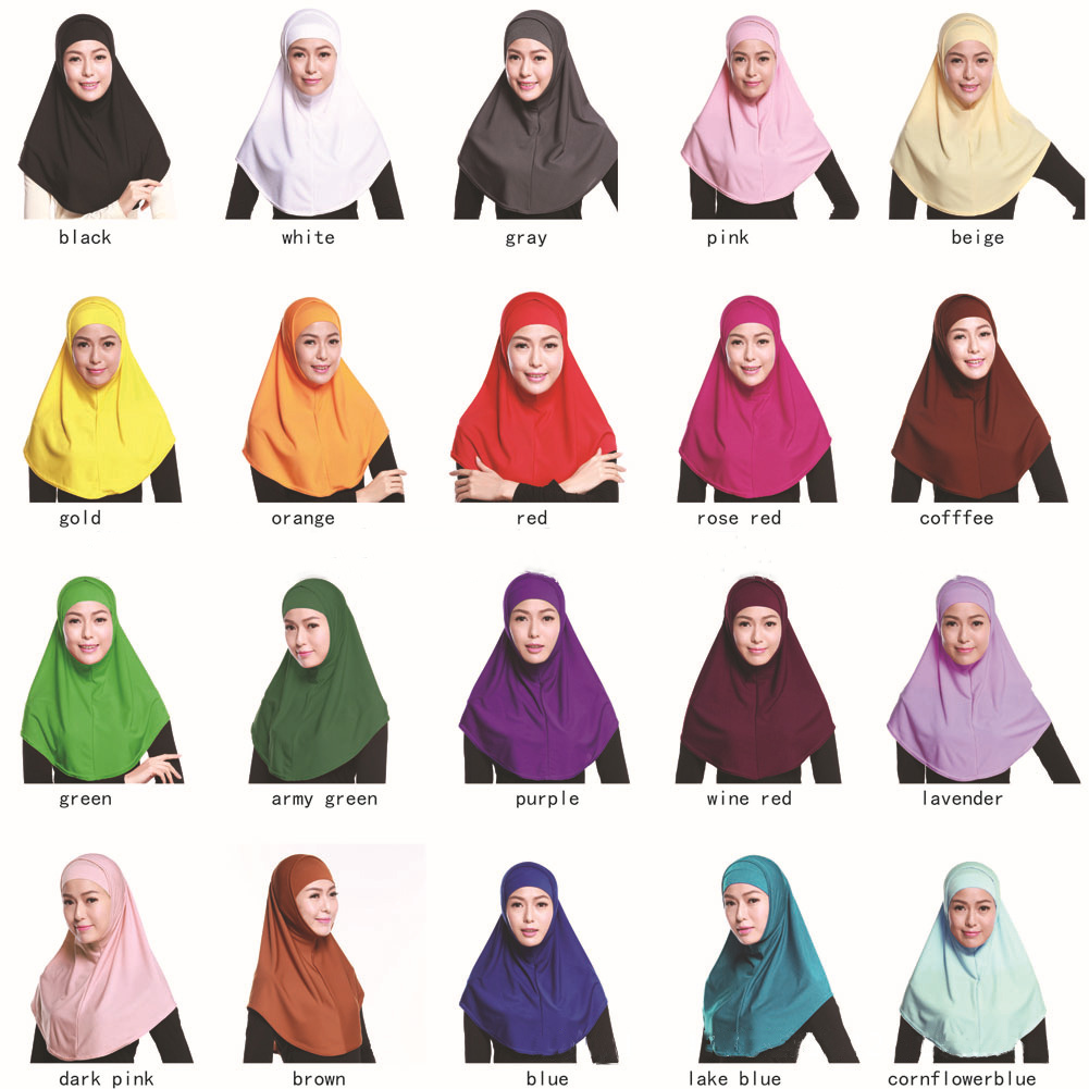 Islam Muslim Two Pieces Hijab Headscarf Tudung