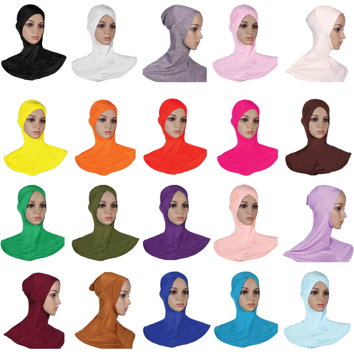 Single Cross Style Muslim Headscarf Hijab Scarf