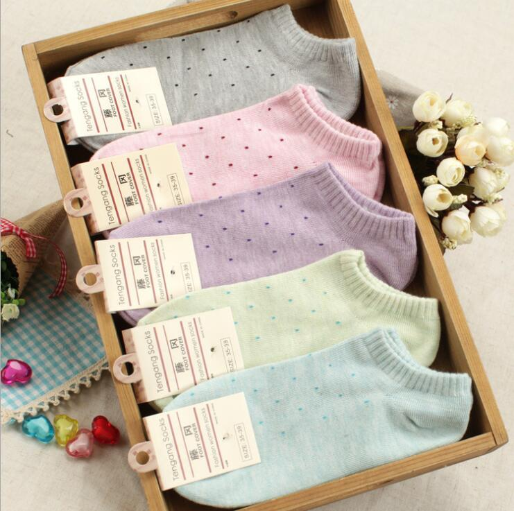 Female Cotton Fine Dots Sock