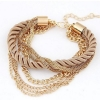 Multilayer Woven Metal Chain Bracelet