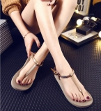Simple Roman Anti-Slip Clip Toe Sandals