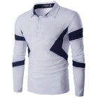 Men's Slim Fit Lapel Long-sleeved POLO T-shirt