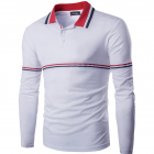 Men's Slim Fit Long-sleeved POLO T-shirt