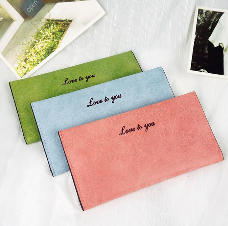 Korean Female Slim Soft Matte Surface Retro Long Wallet