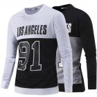 Letters Printed Fashion Design Long-Sleeved Hedging Sweater