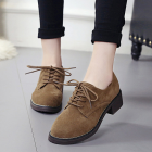 Women's Thick Heel Lace Casual Shoes
