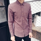 Men's Japanese Fashion Long-Sleeved Cotton Casual Shirt
