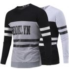 Letters Printed Fashion Design Stripe Long-Sleeved Hedging Sweater