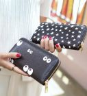 Classical Eyes Star Printed Women Long Purse Wallet